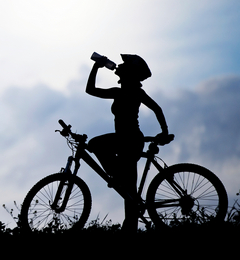 ველოსიპედისტი და სითხის სწორად მიღება