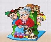 ბებია და შვილიშვილები