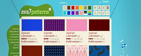 ფონების და ტექსტურების ონლაინ რესურსები - Ava7 Patterns