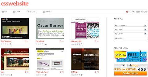 ვებ-დიზაინის საუკეთესო გალერეა - Css-website