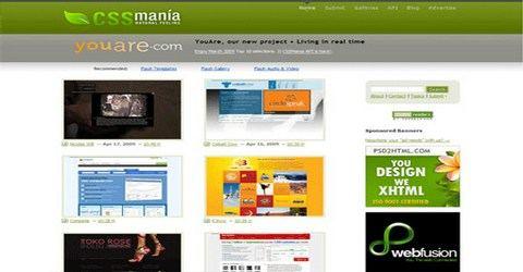 ვებ-დიზაინის საუკეთესო გალერეა - CSS Mania