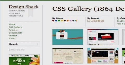 ვებ-დიზაინის საუკეთესო გალერეა - Design Shack
