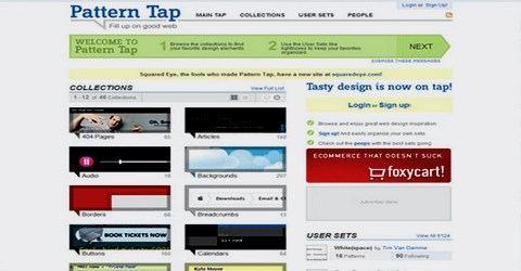 ვებ-დიზაინის საუკეთესო გალერეა - Pattern Tap