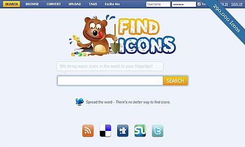 იკონების ძებნის საუკეთესო რესურსები - FindIcons