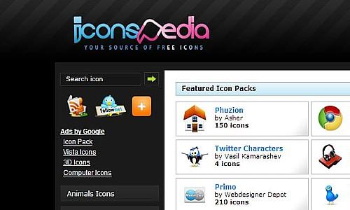 იკონების ძებნის საუკეთესო რესურსები - IconsPedia