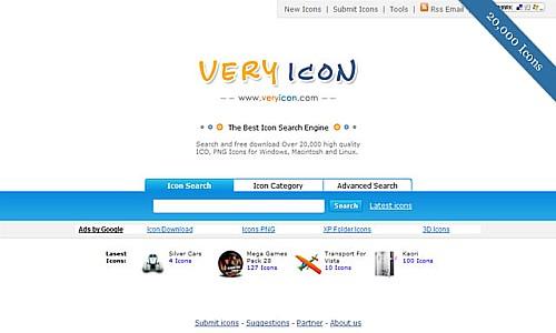 იკონების ძებნის საუკეთესო რესურსები - Very Icon