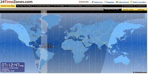 ზუსტი დრო მსოფლიოს ნებისმიერ ქალაქში - 24timezones