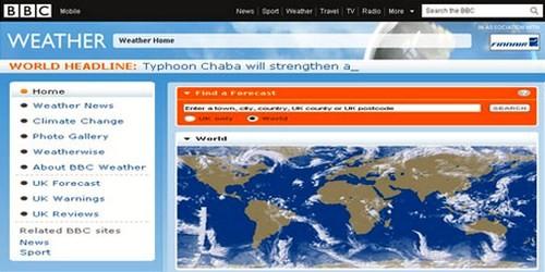მსოფლიოს ამინდის პროგნოზი ონლაინში - News.bbc