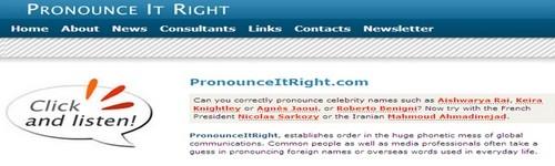 სიტყვების სწორად გამოთქმის ონლაინ სერვისები - Pronounceitright