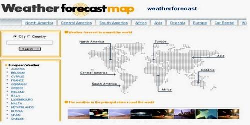 მსოფლიოს ამინდის პროგნოზი ონლაინში - Weatherforecastmap