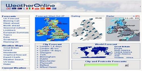მსოფლიოს ამინდის პროგნოზი ონლაინში - Weatheronline