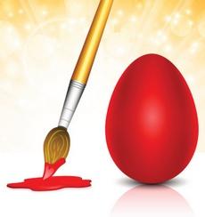 როგორ შევღებოთ კვერცხები ენდროთი