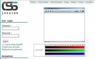 საიტის შაბლონების გენერატორები - CSS Creator