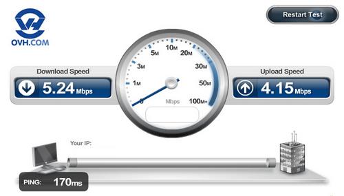 ინტერნეტის სიჩქარისა და IP მისამართის დადგენა